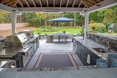Multiple Space Outdoor Kitchen Design Ideas