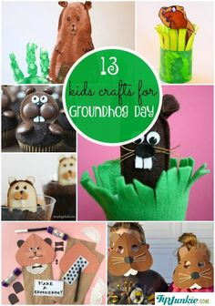 13 Easy Kids Crafts for Groundhog Day-jpg