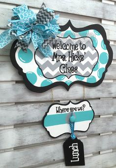 Classroom Decor: Where are We Personalized Sign for Classroom