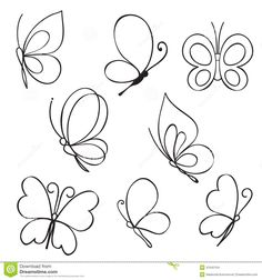 "the royalty-free vector ""Set of hand drawn butterflies"" designed by at the lowest price on . Browse our cheap image bank online to find the perfect stock vector for your marketing projects!"