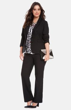 Plus Size Modern Cut Suit | Nordstrom - Great for work!