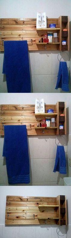 Towel Shelf Made By pallets