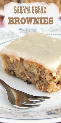 world needs to know. The sweet taste of banana bread brownies topped with a brown butter frosting.The world needs to know. The sweet taste of banana bread brownies topped with a brown butter frosting. Banana Bread Brownies, Best Brownies, Banana Bread Recipes, Banana Bars, Recipes With Bananas, Banana Dessert Recipes, Ripe Banana Recipes Healthy, Healthy Muffins, Banana Bread Glaze