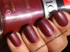 Yesterday's Nail: Revlon matte suede: Ruby Ribbon