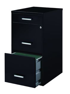 Amazon.com: Space Solutions 3-Drawer File Cabinet, 18-Inch Deep, Black: Office Products