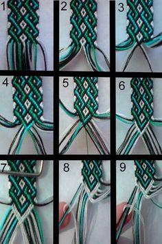 friendship bracelet tutorial 1 by bebe1221.deviantart.com on @deviantART: