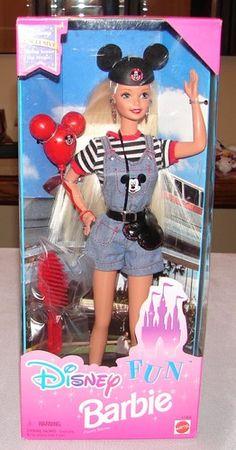 1996 Disney Fun Mickey Mouse Ears Barbie Mattel 17058 4th Ed
