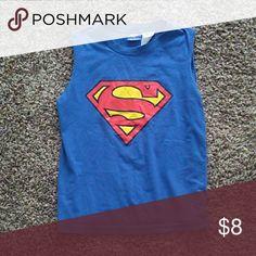 Boys Superman Shirt Good condition. Size 8. Shirts & Tops Tank Tops