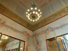 Milan (Italy): Bar Camparino with its art nouveau mosaics and decorations
