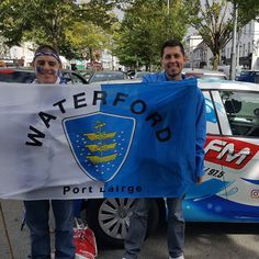The Street Team are in Thurles painting faces before the match #U21 #AllIreland #Hurling #wlr #Waterford #UptheDeise