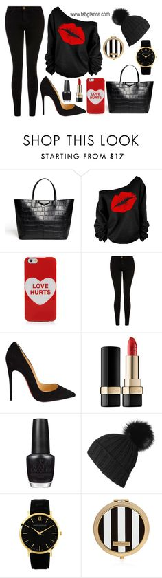 """#ValentinesDay: Bittersweet"" by fabglance ❤ liked on Polyvore featuring Givenchy, Marc Jacobs, Current/Elliott, Christian Louboutin, Dolce&Gabbana, OPI, Larsson & Jennings and Henri Bendel"