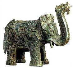 Elephant-shaped Zun Vessel - Late Shang period, century BCE Unearthed in 1975 at Shixingshan, Liling Bronze. W in Courtesy, Hunan Provincial Museum Ancient China, Ancient Art, China Art, Handmade Tiles, Chinese Culture, Bronze Age, Chinese Antiques, Magazine Art, Oriental