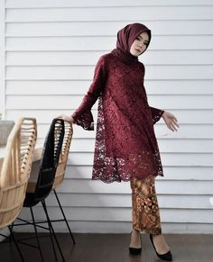 Kebaya Lace, Kebaya Hijab, Kebaya Brokat, Kebaya Dress, Batik Kebaya, Kebaya Muslim, Muslim Dress, Blouse Batik, Batik Dress
