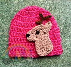 Baby Crochet Deer / Hunting Hat by BrightCrochet on Etsy, $19.00