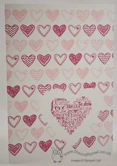 Language of Love One Layer Card Language of Love, Joanne James Stampin' Up! UK Independent Demonstrator, blog.thecraftyowl.co.uk