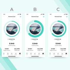 from - Circular progress bar tracking your current saving. Which one do you prefer? Comment below! App Icon Design, Web Design Agency, Ui Design, Interface Web, Progress Bar, Slide Design, Mobile App Design, Personal Goals, Iceland Travel