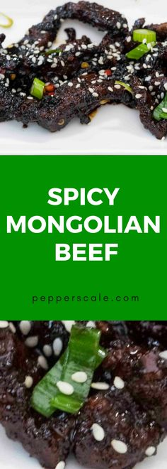 There's so much to love about this spicy Mongolian beef recipe - salty and sweet, fiery and crisp. With video - see it being made. Chipotle Recipes, Meat Recipes, Mexican Food Recipes, Chinese Recipes, Delicious Dinner Recipes, Yummy Food, Spicy Steak, Mongolian Beef Recipes, Spicy Meatballs