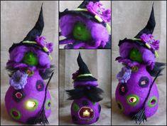 Halloween té hadas de fieltro muñeca té luz por FeltedArtToWear