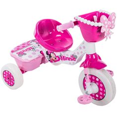 Disney's Minnie Mouse Junior Minnie Tricycle by Huffy Baby Girl Toys, Toys For Girls, Kids Toys, Minnie Mouse Toys, Minnie Mouse Party, Minnie Mouse Clothes, Muñeca Baby Alive, Kids Trike, Hello Kitty House