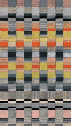 design-is-fine: Benita Koch-Otte, design drawing for a fabric, Bauhaus-Archiv Berlin. Via design report (Mónica Rodriguez) Textile Patterns, Print Patterns, Floral Patterns, Cover Design, Zentangle, Bauhaus Textiles, Weaving Designs, Bauhaus Design, Guache