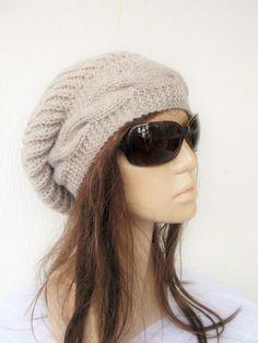 Winter  Hat Slouchy Hat Hand Knit Hat Womens hat   by Ebruk