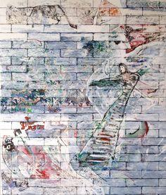 Claudio Spanti - Les petits rats de l'Opéra - Acrylique sur toile - cm 84x72 - 2012
