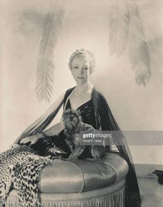 Horst P. Horst, Lady Mendl wearing evening gown by Mainbocher and headdress by Cartier, 1936 Elsie De Wolfe, Photos With Dog, Photographs Of People, American Spirit, Neutral Colour Palette, Shop Interior Design, White Paints, Back In The Day, Evening Gowns