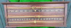 Orme Antique Snooker Scoreboard. B653 | Browns Antiques Billiards and Interiors.