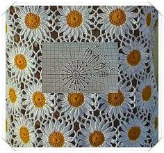 Crochet Bedspread Patterns Part 9 - Beautiful Crochet Patterns and Knitting Patterns Crochet Bedspread Pattern, Crochet Motifs, Crochet Flower Patterns, Crochet Diagram, Crochet Chart, Crochet Squares, Thread Crochet, Crochet Designs, Crochet Doilies
