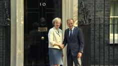 """European Council president Donald Tusk told Theresa May """"the ball is now in your court"""" as the pair discussed the next steps on Brexit. Meeting the prime minister at Downing Street, Mr Tusk said the other 27 member states were waiting to see when the UK would formally trigger its departure from the EU. It is """"in everyone's interest"""" for this to start as soon as possible, he added. Mrs May said s"""