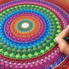 Elspeth Mclean Mandala Stones – Brave the Woods Dot Art Painting, Mandala Painting, Stone Painting, Mandala Design, Mandala Pattern, Circular Pattern, Mandala Canvas, Mandala Art, Mandala Making