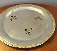Vintage International silver  Christmas  tray by HollyWouldFind on Etsy