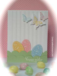 Cindy Brumbaugh: CindyLeeBee Designs – SU Backyard Basics Easter Eggs - 4/9/14.  (SU: Backyard Basics stamps/ framelits; Delightful Dozen stamps; Tasteful Trim BigZ; Striped EF; Elegant & Bitty Butterfly punches).
