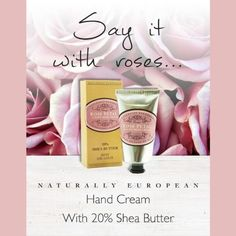 This Valentine's Day, say it with roses! ❤ ❤ #ValentinesDay #Roses #NaturallyEuropean #SheaButter #SheaButterHandCream #HandCream