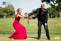 Golf theme prom picture also great for wedding