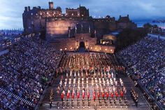 Edinburgh Military Tatoo - Yes, it's a bagpipe festival held at a castle....with torches to light the night. Very cool....I will go and some sovereign states pipe band better play Highland Cathedral or I will be mad.