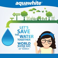 Around billion people don't have access to clean water. On this world water day, let's pledge to treat water as a scarce resource! Save Water Save Life, Access To Clean Water, World Water Day, Go Green, Aqua, Events, Let It Be, People, Water
