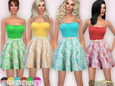 Sims 4 CC's - The Best: Laced in Love Skater Dress by Harmonia