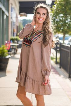 Day To Dream Dress, Brown
