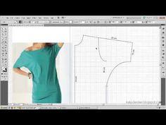 Tişört kalıbı üzerine model uygulama 3 / T-short pattern on the model ap...