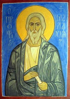 """Holy Prophet Malachi BC) - Last of the Old Testament prophets, therefore called """"the seal of the prophets."""" Manifesting himself an image of spiritual goodness and piety, he astounded the nation and was called Malachi, i., an angel. Religious Images, Religious Icons, Religious Art, Byzantine Art, Art Icon, Catholic Saints, Old Testament, Orthodox Icons, Bible Stories"""