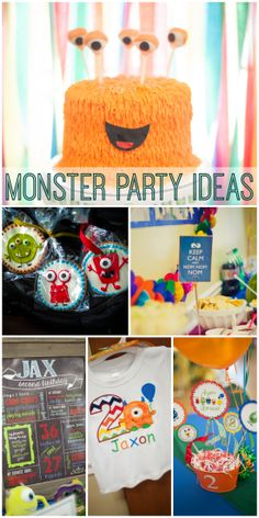 Very fun monster party ideas, perfect for a boy birthday! See more party ideas at CatchMyParty.com/