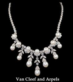Creator: Van Cleef & Arples Stone(s): Pearl, Diamond Metal: Platinum Source: Yafa Signed Jewels