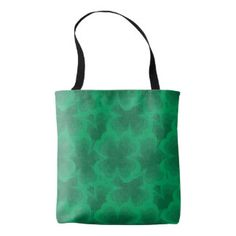 Lucky Green 4 Leaf Clover Saint Patricks Spring Tote Bag