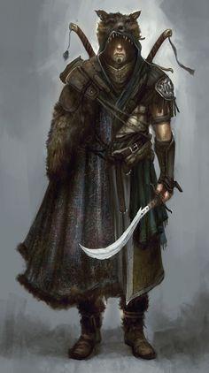 Nomad by TomEdwardsConcepts.deviantart.com [Utfryst av sin faders folk ger sig Naghor av för att bevisa sin värdighet.]