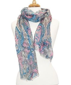 Look what I found on #zulily! Pink Paisley Scarf by Tickled Pink #zulilyfinds