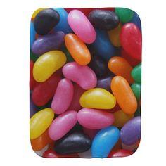 Jelly Bean Burp Cloth