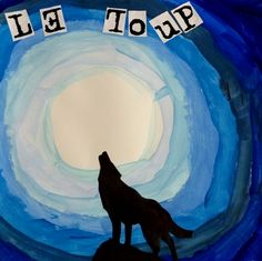 loup PEINTURE Tag Art, Class Auction Projects, Wolf Craft, Puzzle Piece Crafts, Grade 1 Art, Canadian Wildlife, Ecole Art, Arctic Animals, Ocean Themes