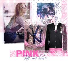 """PINK by Victoria: Take Me Home Yankees"" by victoria-secret-pink-ebay on Polyvore"