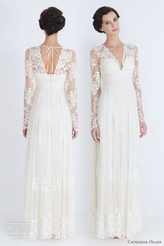 I love lace wedding dresses..this would be cute for a winter wedding:)